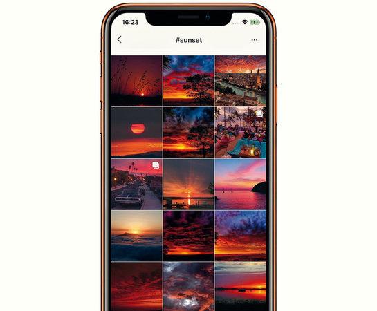 Instagram al tramonto