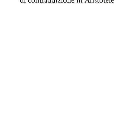 Del principio di contraddizione in Aristotele