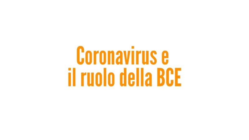 Coronavirus e il ruolo della BCE