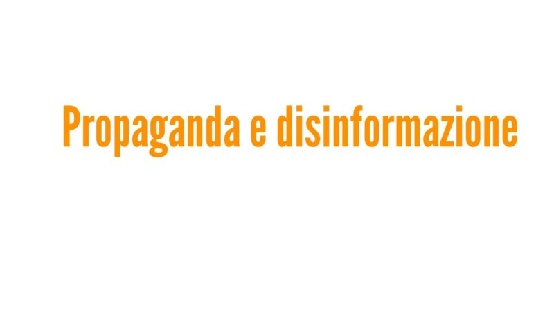 Propaganda e disinformazione