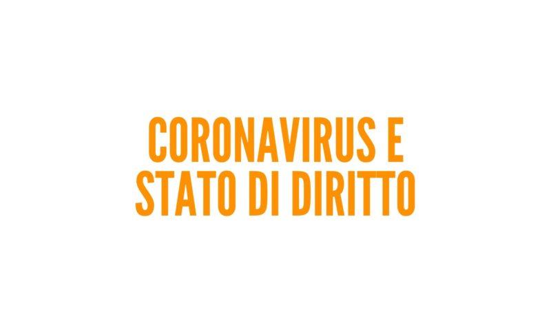 Coronavirus e Stato di diritto