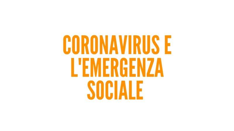 Coronavirus e l'emergenza sociale