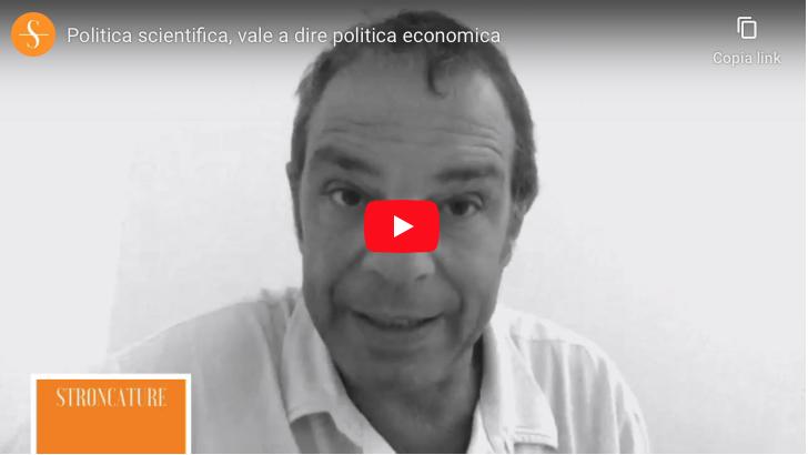 Politica scientifica, vale a dire politica economica