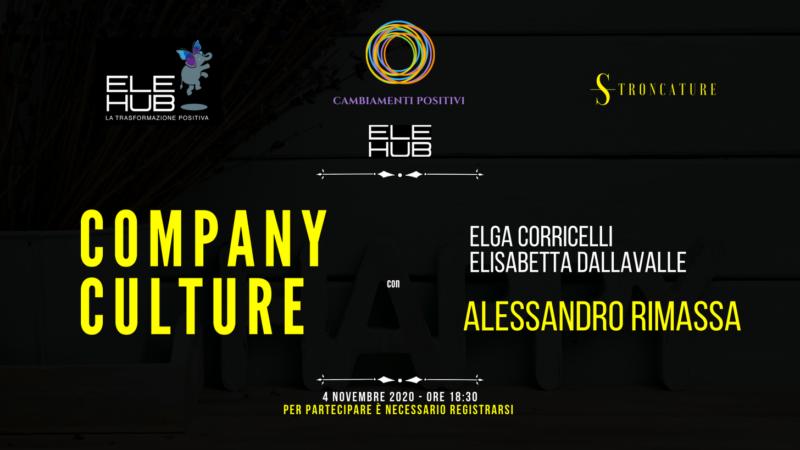 """""""Company Culture"""" con Alessandro Rimassa"""
