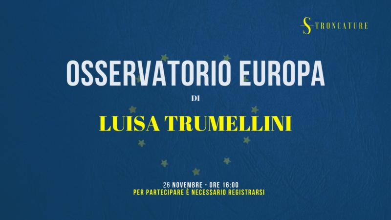 """Osservatorio Europa"" di Luisa Trumellini"