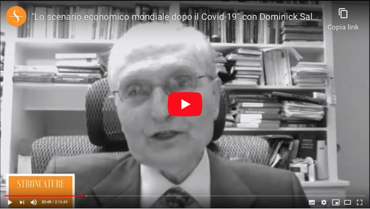 """""""Lo scenario economico mondiale dopo il Covid-19"""" con Dominick Salvatore"""