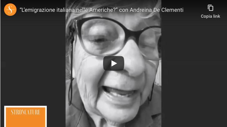 """""""L'emigrazione italiana nelle Americhe"""" con Andreina De Clementi"""