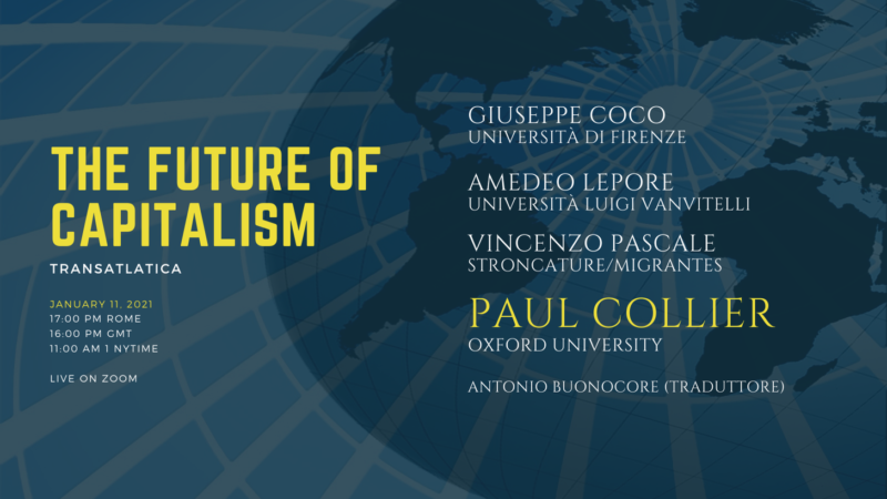 """The future of capitalism"" con Paul Collier"