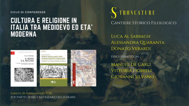 Cultura e religione in Italia tra medioevo ed età moderna