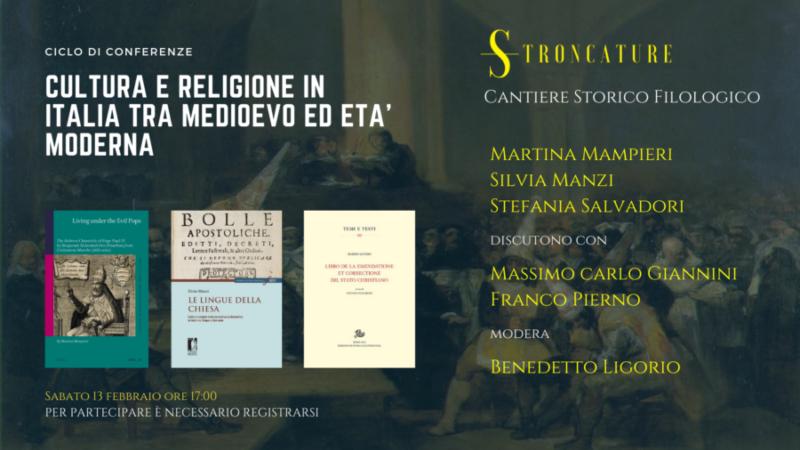 Cultura e religione in Italia tra medioevo ed eta' moderna
