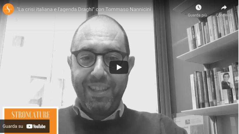 """""""La crisi italiana e l'agenda Draghi"""" con Tommaso Nannicini"""