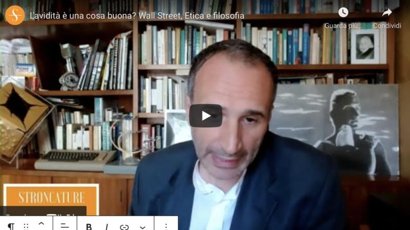 L'avidità è una cosa buona? Wall Street, Etica e filosofia