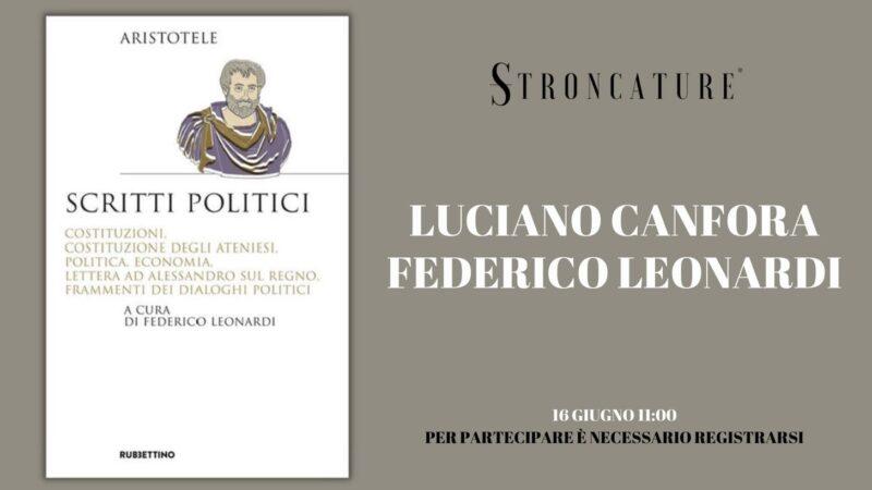 """""""Scritti politici"""" di Aristotele"""